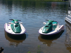2 sea doo and trailer