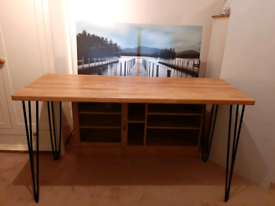 Reclaimed Solid wood office desk New contactless collection