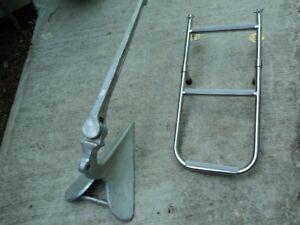 Anchor and Foldup Sailboat Ladder
