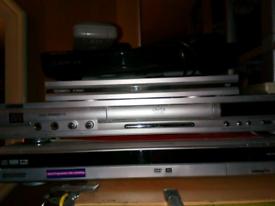 Sony dvd recorder +free view box +small black Sony dvd player