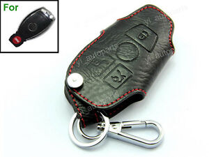 Leather-Remote-Shell-Case-Key-Holder-For-Benz-Protective-Chain-3B-C-E-CLK-Class