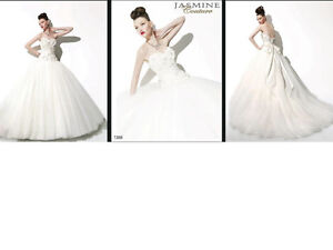 STUNNING JASMINE COUTURE WEDDING DRESS FOR SALE- size 12