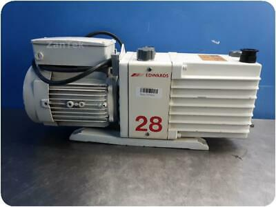 Edwards E2m28 Dual Stage Rotary Vane Mechanical Vacuum Pump 30-day Warranty