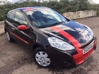 Renault Clio 1.2 petrol black and red