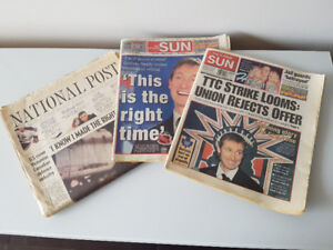 Wayne Gretzky Tribute - 1999 - Newspaper Lot of 3