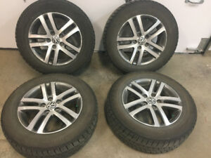 VW Alloy rims with Blizzak winter tires 205 65R 16