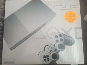 PS2 CONSOLE SEALED SATIN SILVER EDITION MISB RARE