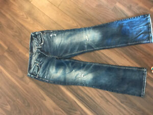 Ladies Silver jeans for sale (size 16)