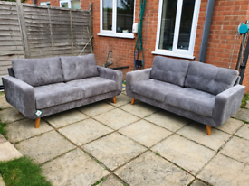 Aurora 3+3 seater sofa Grey