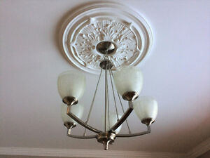 Hanging Stainless Steel Chandeliers for Sale! x4