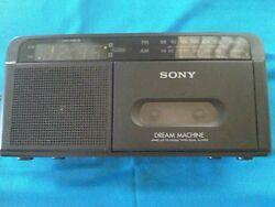 1980's SONY DREAM MACHINE DUAL ALARM CLOCK RADIO, AM/FM & CASSETTE, a classic