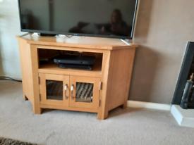 Light Oak Corner TV Cabinet