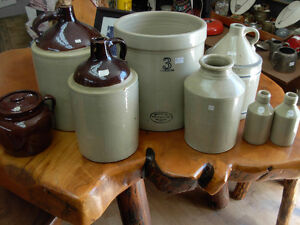 Assorted Stoneware Crocks