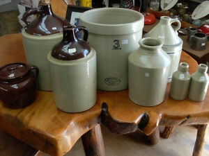 Assorted Stoneware Crocks