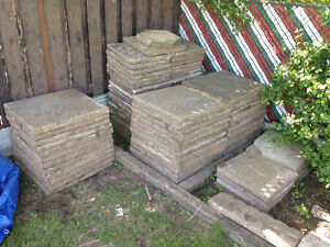"""24"""" by 24 """" and 18"""" by 18"""" Paving Stones Either size take all"""