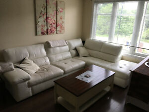 White leather couch