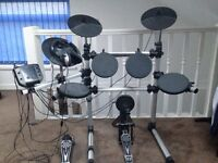 Electronic Drum-Set with Headphones & Sticks (hardly used)