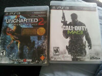 Uncharted 2 / Call of Duty MW3
