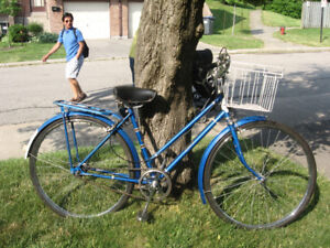 Raleigh Colt 3 Spd, Fenders, Basket, Rear Rack, New Cables/Tires