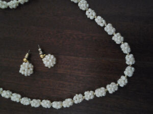 Multi Strand Freshwater Necklace and Earrings