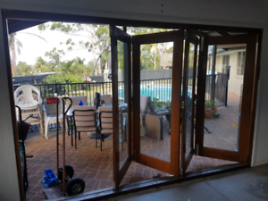 Timber bi fold doors single door