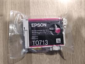 Epson T0713 Original Magenta Ink Cartridge New