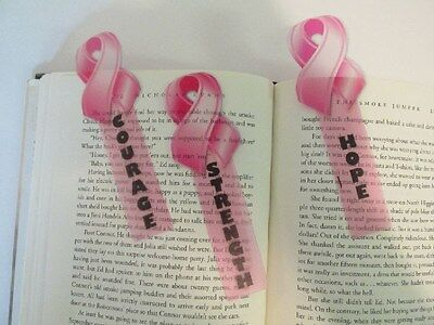 48 PINK RIBBON BOOKMARKS party supplies favors ...