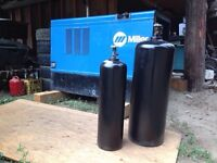 Acetylene welding tanks