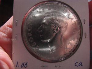 Silver Dollar Canadian, Silver Dollar Uncirculated