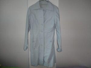 Manteau faux cuir bleu medium