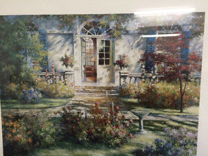 "Collectible Antique ""The Open Door"" Framed Print By Tan Chun London Ontario image 2"