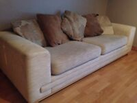 DFS modern 4 seater & 3 seater sofa