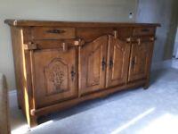 Beautiful large, solid wood, dresser/sideboard.