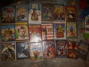 HUGE LOT OF CHILDREN'S AND OTHER DVDS/BLU RAYS