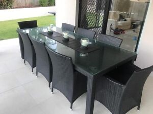 Wicker Outdoor Dining Table - 8 Seater, As New, Paid over $3500! Cleveland Redland Area Preview