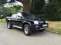 MITSUBISHI L200 TROJAN LWB 2007 manual DIESAL LEATHER SEATS uk model top of range long mot