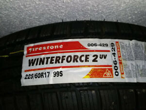 225 60 17 Firestone Winterforce 2 UV, brand new tires