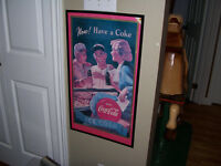 Vintage Framed Coke Advertisement Approx 26 by 15