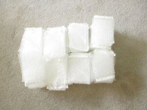 """100 bubble enclosure bags with adhesive strip - 4"""" x  6"""" in size"""