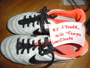Youth Outdoor Soccer Cleats and Indoor Soccer Shoes size 1 and 2