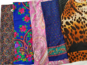 Ladies WRAPS + SCARVES for Fall. Price = $1 to $2 each.