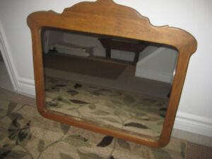 Antique-framed mirror