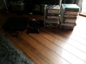 PlayStation 3 w/controller, move, and games