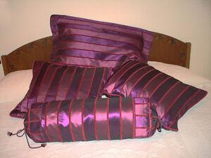 Queen Bedroom Duvet Cover, Decor Pillows Cases - Custom Sewn