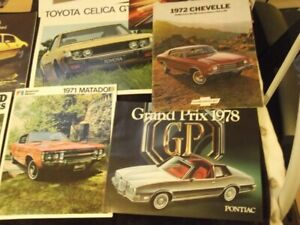 Vehicle Books ,brochures ,owners manuals