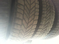 BMW E36 3 Series Steelies set with 3 out of 4 GOOD WINTER TIRES
