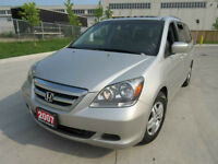 2007 Honda Odyssey EXL, 8 Pass,Leather,roof, up to 3 years warr.