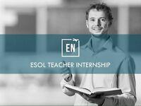 INTERNSHIP - ESOL teacher needed - experience not necessary