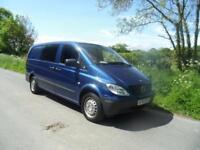 SORRY NOW SOLD. 60 Plate Mercedes-Benz Vito lwb 6 seater with dog cages