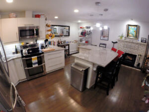 TRENDY 2 BR Multi-level Downtown Condo, furnished & parking